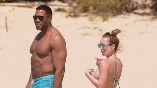 Michael Strahan Hits The Beach With 27 Year Old Girlfriend Kayla Quick