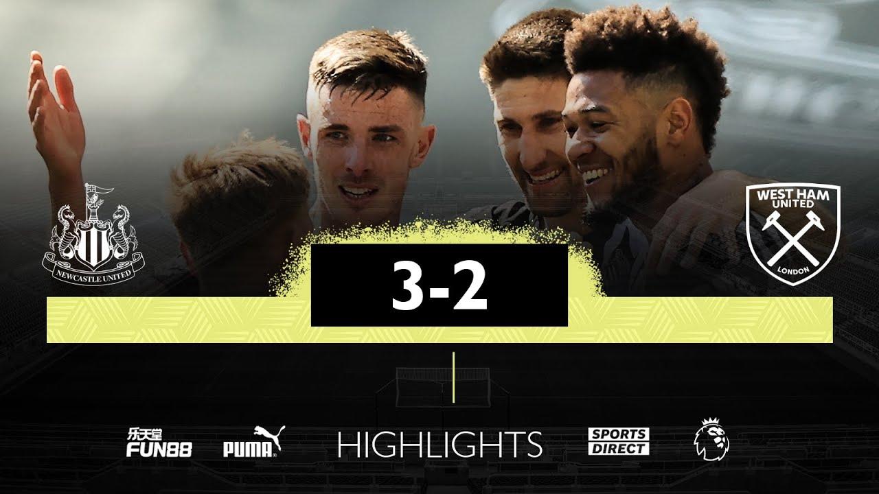 Newcastle United 3 West Ham 2 | Premier League Highlights