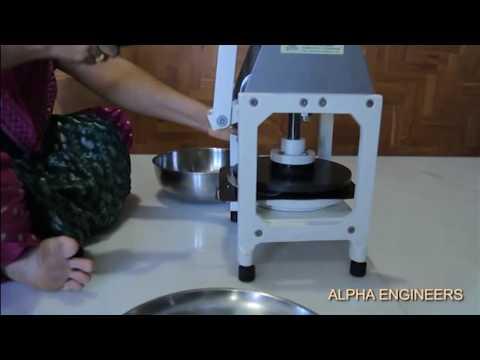 Roti /Puri / Chapati/ Rice Papad Making Machine by ALPHA ENGINEERS Vadodara-390004 ,Gujarat,India.