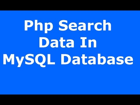 Php : How To Search And Display Data From MySQL Database Using Php MySQLI [ with source code ]