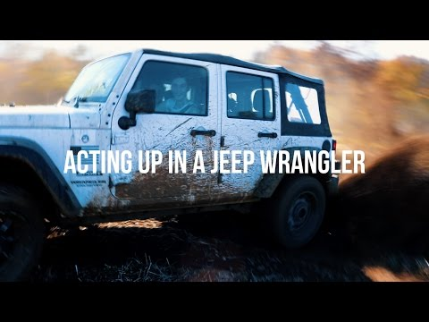 ActingUp in a Jeep Wrangler