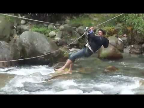 Zip Lining By me  crossing River at vyas nadi Manali tourism