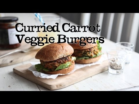 Curried Carrot Veggie Burgers | Abel & Cole