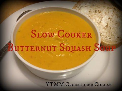 Slow Cooker Butternut Squash Soup | YTMM Crocktober collab Day 20