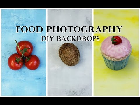Cheap DIY Backdrops for Food Photography