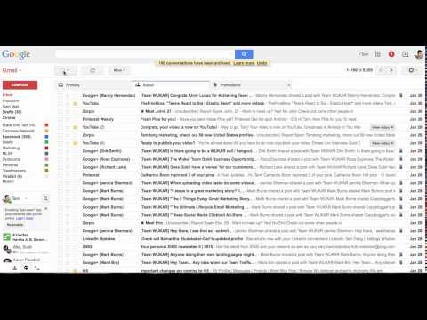 How Archive All Your Emails From Gmail Fast
