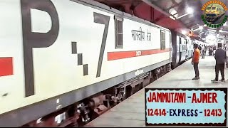 12413 Ajmer TO Jammu tawi Pooja s.f express arriving Change engine &Departing from old Delhi station