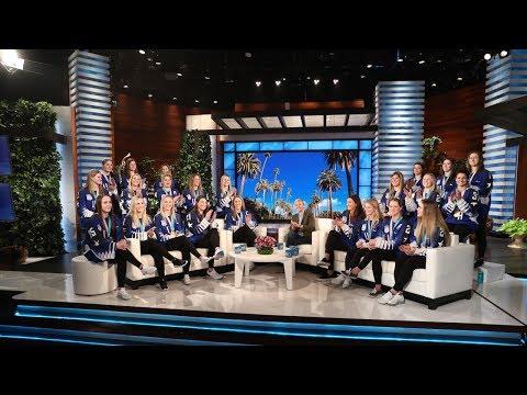 Ellen Honors the Gold Medal-Winning U.S. Women's Hockey Team