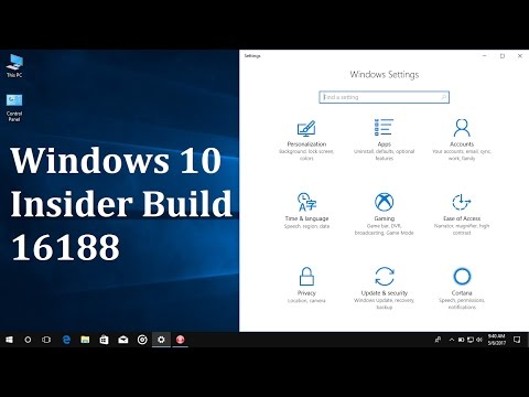 Windows 10 insider build 16188