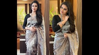 actress keerthy suresh sarees collection