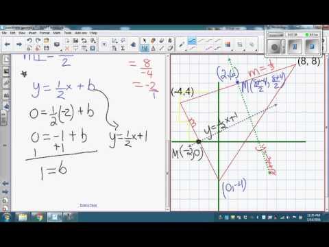 Finding the circumcenter of a triangle using algebra