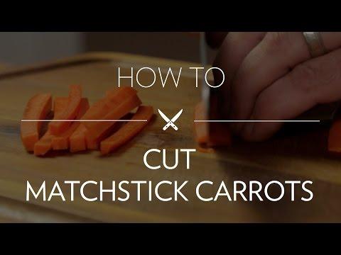 Cutting Matchstick Carrots