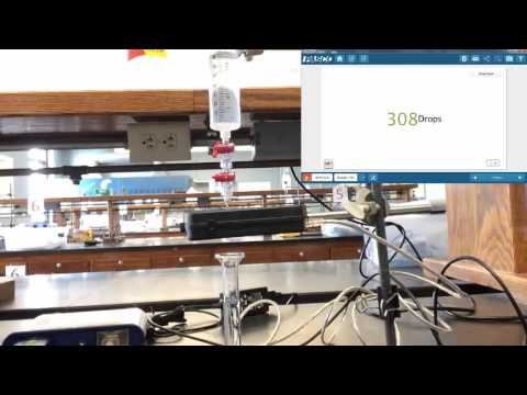 Calibrating the Pasco Drop Counter