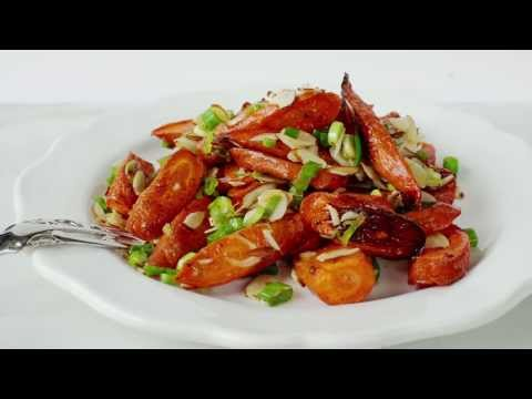 Carrot Salad with Scallions and Almonds | 1-2 Simple Cooking
