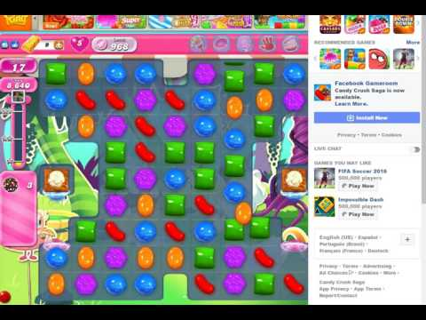 Candy Crush 968 No Boosters no Sound