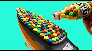 AWESOME EXPERIMENT: STEAMING IRON VS M&M