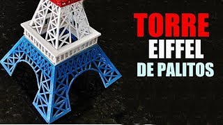 Presente Criativo para namorada -Torre Eiffel  De Palitos -  Elton Donadon