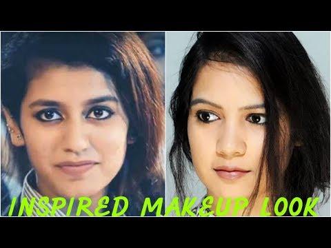 Priya prakash varrier inspired makeup look ||TipsToTop By Shalini