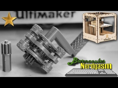 Printing functional Planetary Gears on my Ultimaker 3D Printer - Assembly w/ Commentary