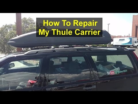 Thule roof box carrier repair, rebuild, patch holes and paint. - VOTD
