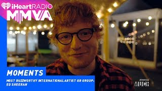 Ed Sheeran Wins Most Buzzworthy International Artist With A Special Message | 2017 iHeartRadio MMVAs