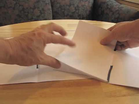 How to make a book by folding and cutting