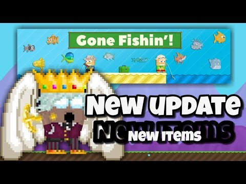 NEW UPDATE + NEW ITEMS ( Gone Fishin' ) | Growtopia