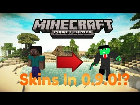 Minecraft PE- Skins in MCPE!? [0.9.0]