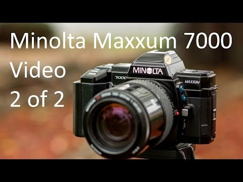 Minolta Maxxum (Alpha, Dynax) 7000 Video Manual 2 of 2