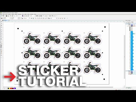 Laser Cutting Stickers Tutorial | Perforated lines for stickers