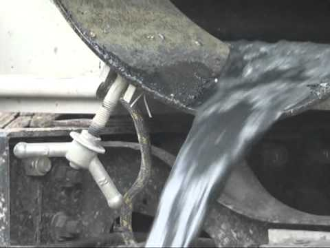 Emptying a septic truck