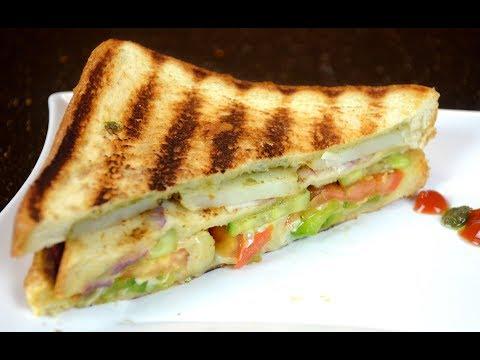 Veg Sandwich | Bombay Grilled Sandwich | Street Food | Lunch Box Recipe