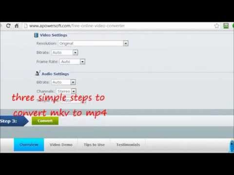 Free convert HD MKV to MP4 online