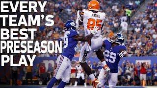 Every Team's Best Preseason Play | NFL