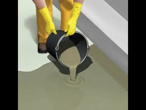 Self leveling underlayment used to repair concrete