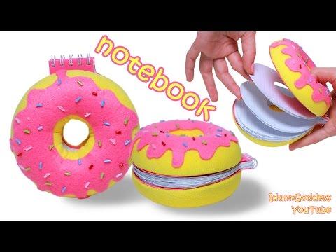 How To Make a Donut Notebook – DIY Doughnut Notepad Tutorial