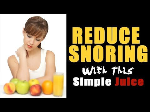 How to Reduce Snoring with a Simple Juice