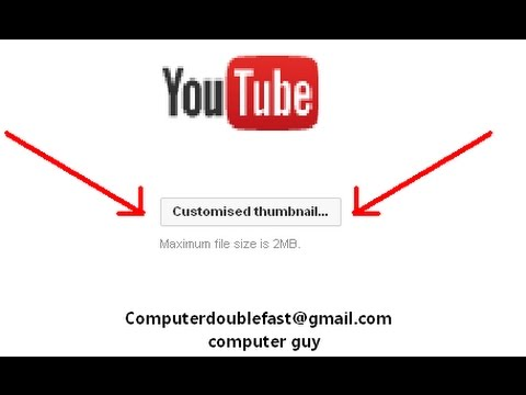 How to Change YouTube Video Custom Thumbnail Tutorial STILL WORKING 2014