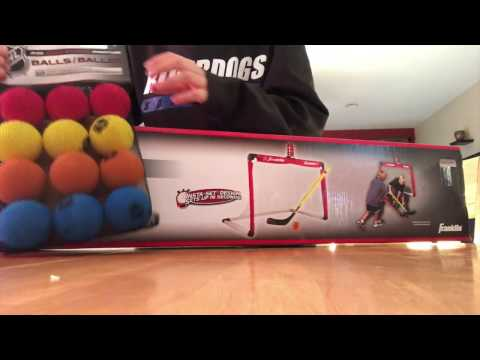 franklin hockey goal light unboxing and review