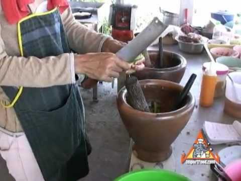 Thai Street Vendor Som Tum Long Beans and Noodle Salad
