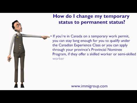 How do I change my temporary status to permanent status?