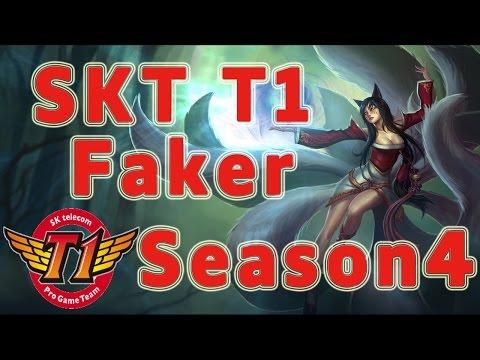 SKT T1 Faker Ahri MID vs Yasuo Patch 4.17
