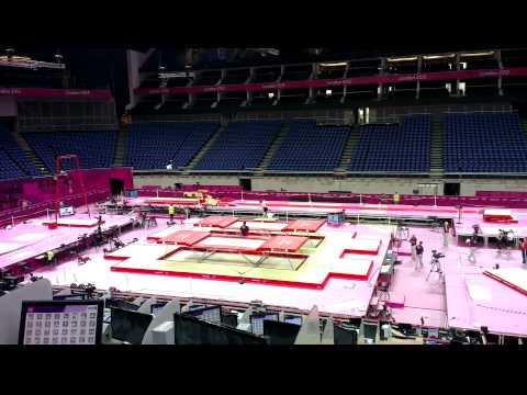 London O2 arena Olympic equipment testing 2012
