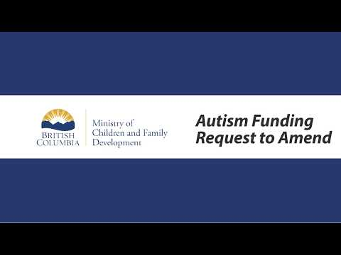 Autism Funding Program Request to Amend