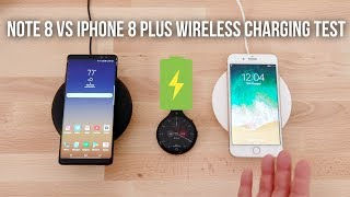 iPhone 8 Plus vs Note 8 Wireless Charging Test!