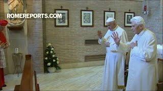 Các tân hồng y nhận phép lành từ Đức Benedicto XVI