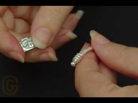 How to add charms to a Pandora Bracelet