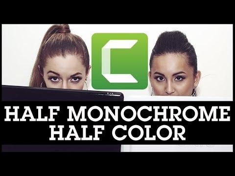 Camtasia 9 Creative Editing Tutorial: Half Monochrome, Half Color