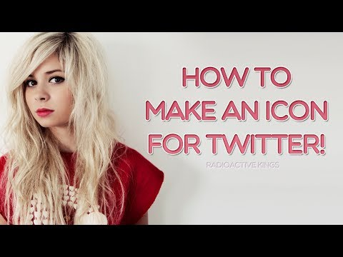 How to make an icon for twitter! (Photoshop CS5)