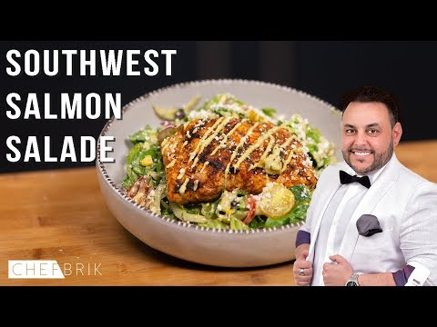 Southwest Grilled Salmon Salad